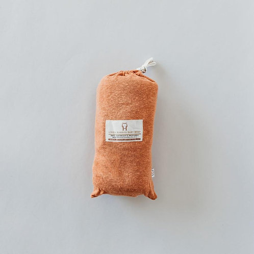 BABY SWADDLE/WRAP - BAMBOO LUXE LINEN JERSEY - COPPER
