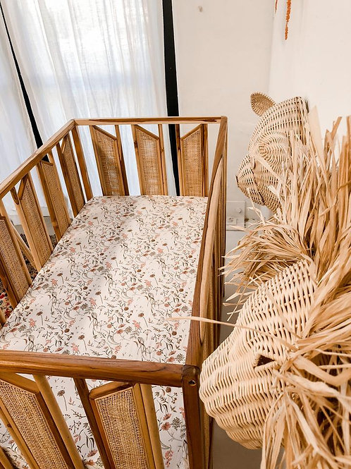 Luna Treasures - Bamboo Jersey Cot Sheet