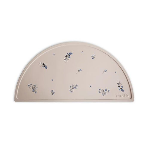Mushie - Silicone Place Mat (Lilac Flowers)