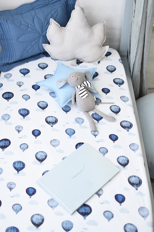 Snuggle Hunny Kids - Cloud Chaser I Fitted Cot Sheet