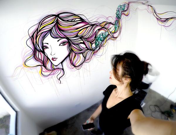 Mural em estabelecimento comercial  Moema - SP