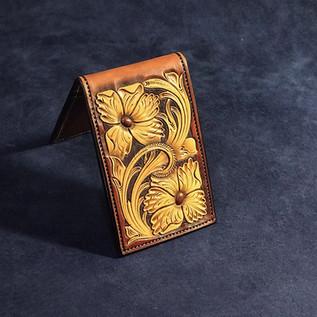 1/2 Floral 4 pocket money clip