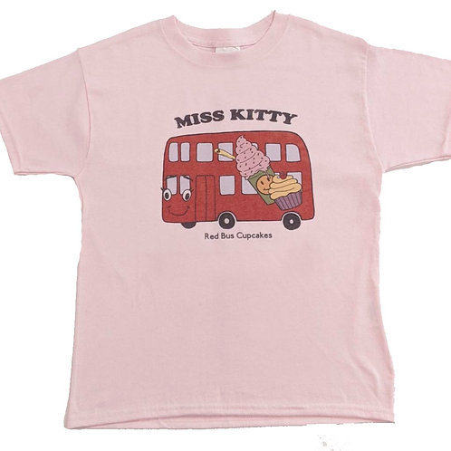 Youth size MK retro look tee in pink