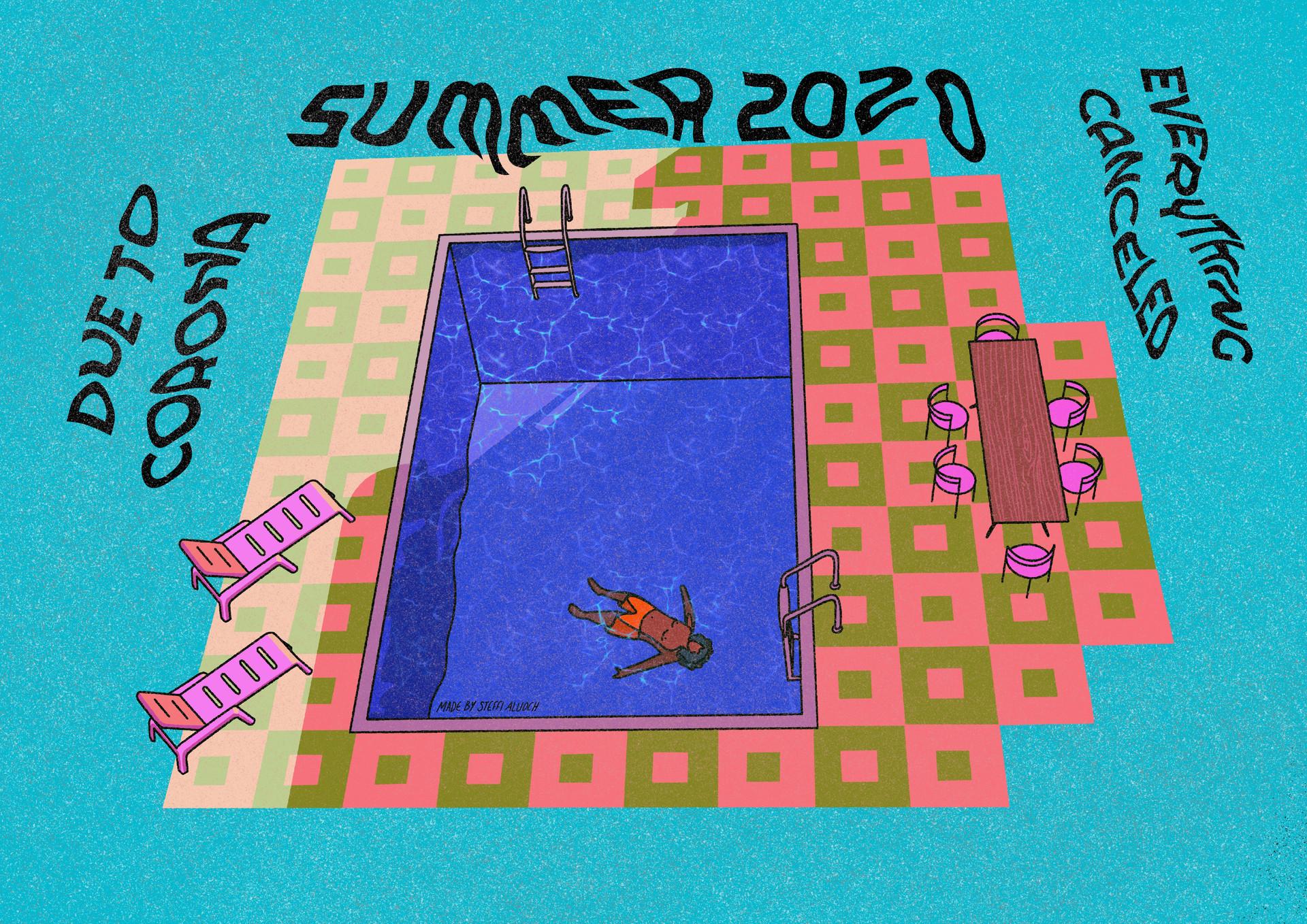 Corona summer affisch