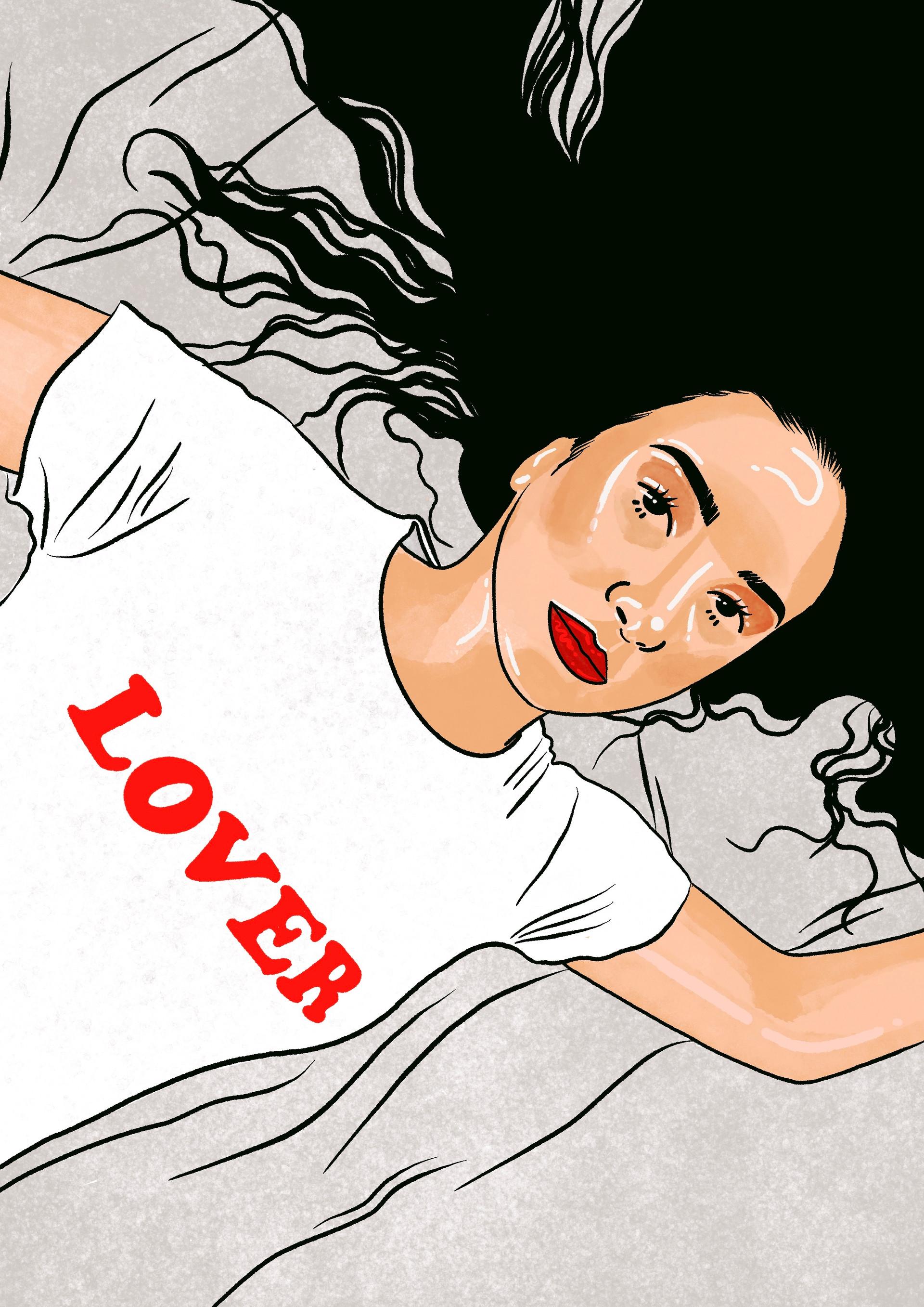 Porträtt illustration