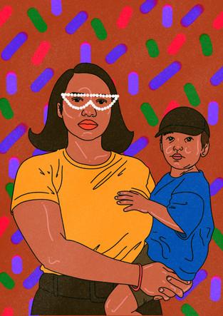 Familj illustration