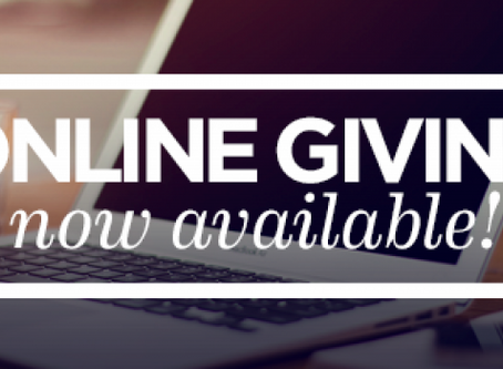 Online Giving is Here!
