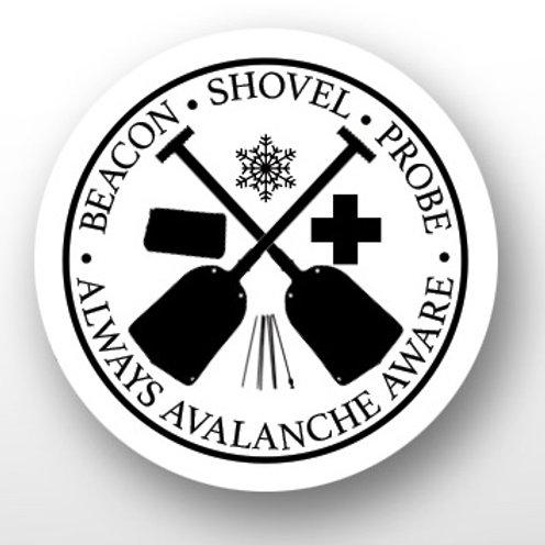 """1"""" Avalanche Awareness Pin"""