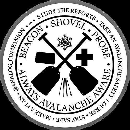 "3"" Avalanche Awareness Sticker"