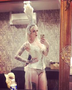 Burlesque dancer in london
