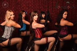 Burlesque troupe in London