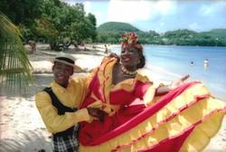 Folk Caribbean dancers