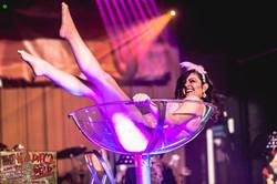 Martini glass burlesque dancer