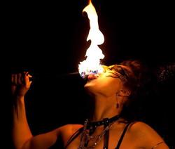 Fire dancer in London 4