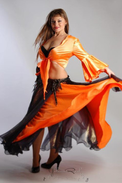 Flamenco Gipsy belly dancer