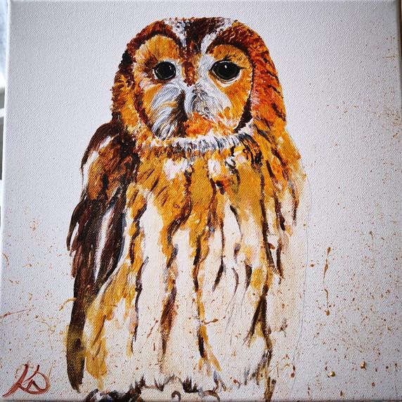 Golden Tawny Owl