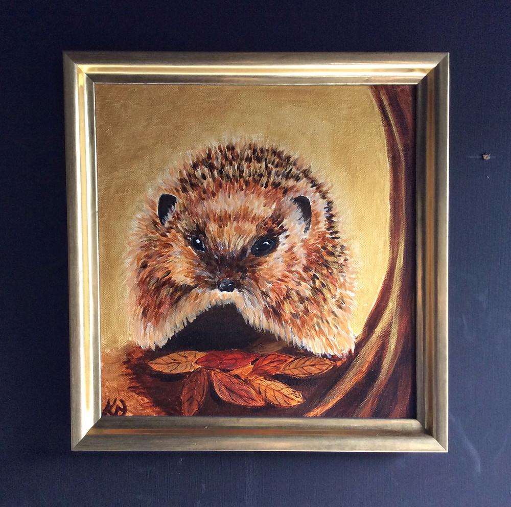 Original Acrylic on vanvas in bespoke handmade frame.