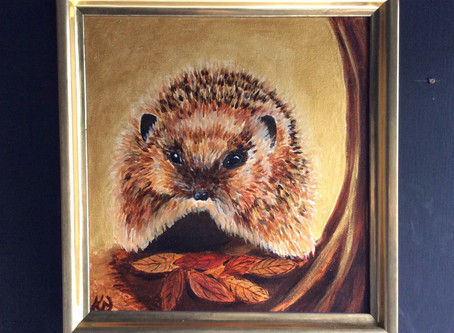 Autumn Treasure painting to be auctioned at the Hospice of St Francis.
