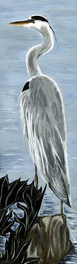 Heron, acrylic on canvas_