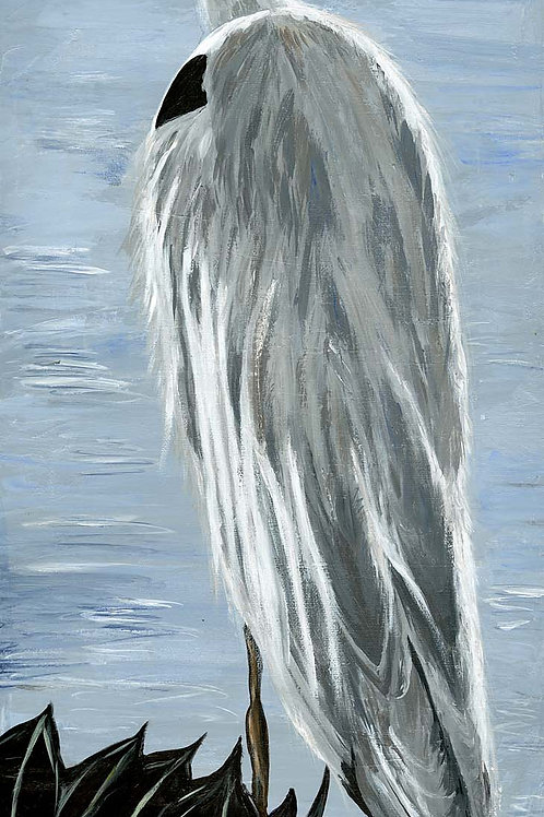 Blue Heron Limited Edition  Mounted Giclee Print