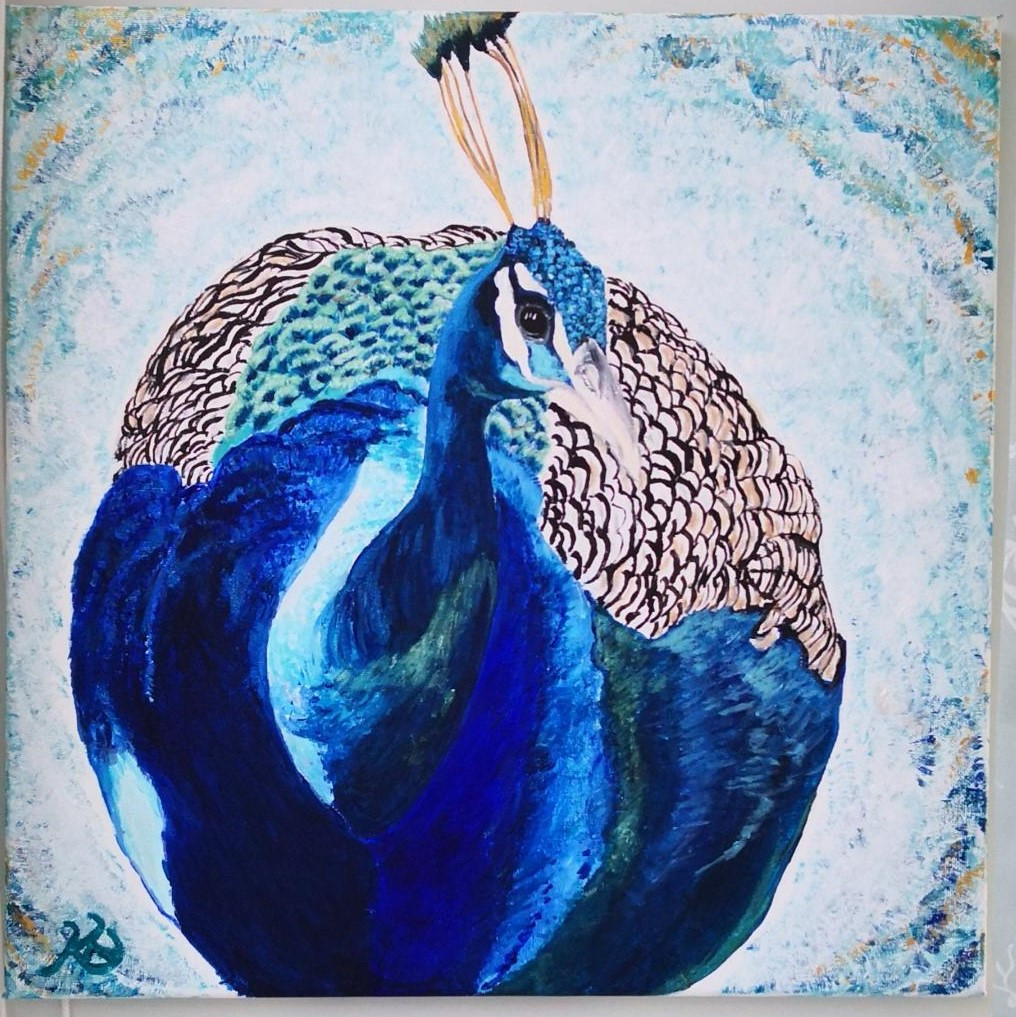 Peacock I on feathery background (2).jpg