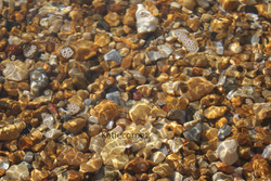 2,11 Seawater and pebbles.