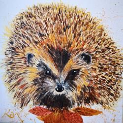 Colours of Autumn Hedgehog
