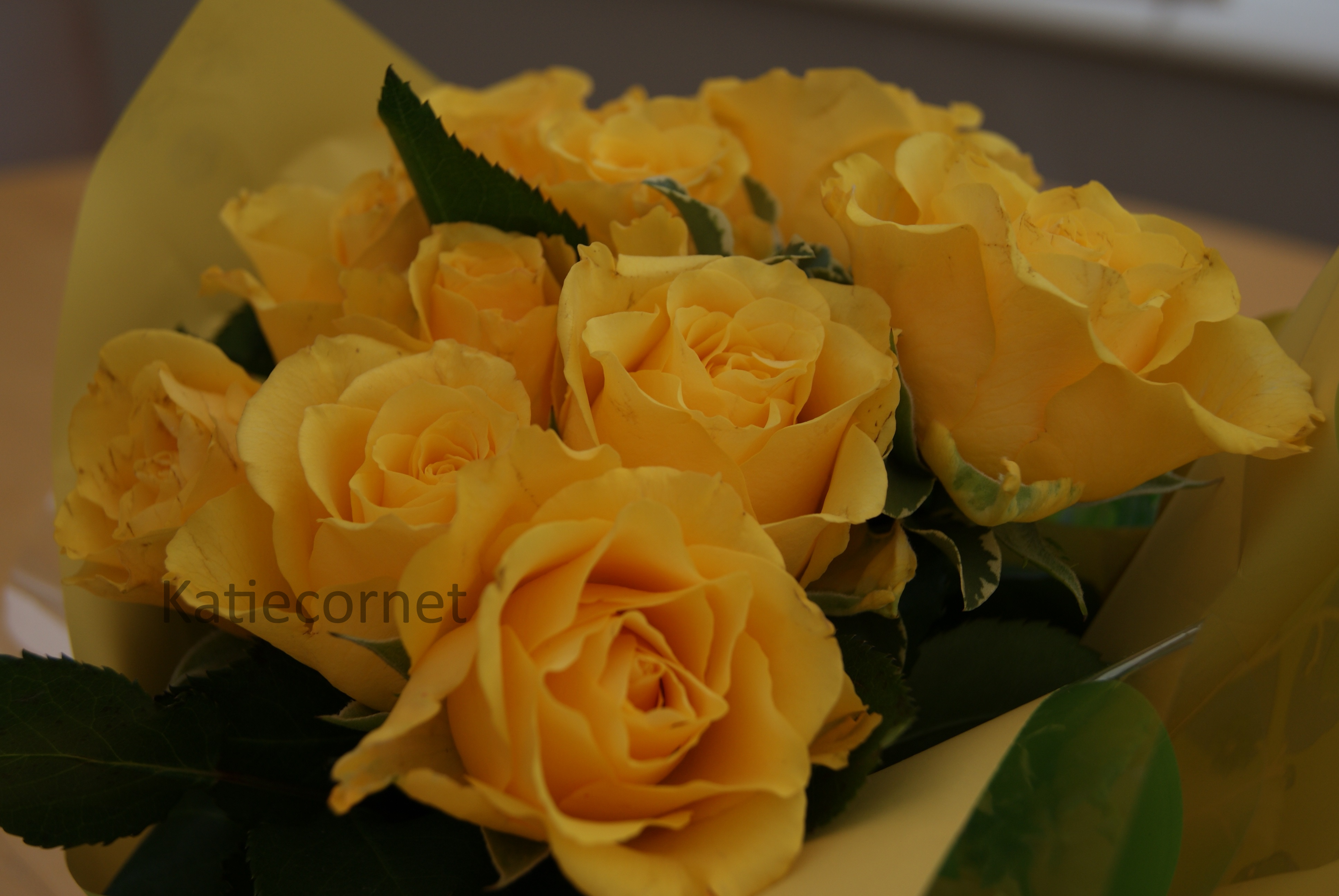 3. Yellow Rose Bouquet.