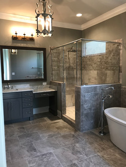 Neutral Tile Shower and Flooring