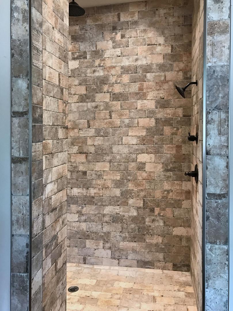 Brick Pattern Shower