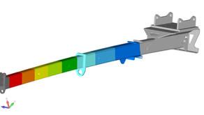 Projekt - Festigkeitsanalyse  eines Kranarms für Bagger
