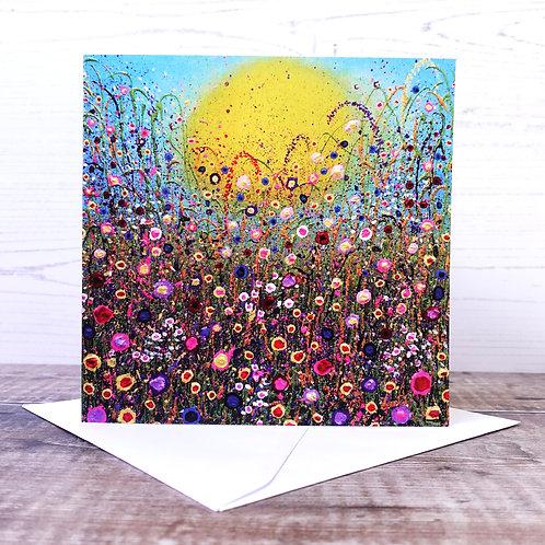 Single Greetings Card - Summer Glow