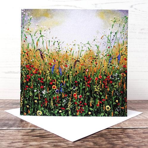 Single Greetings Card - Waterside Meadow