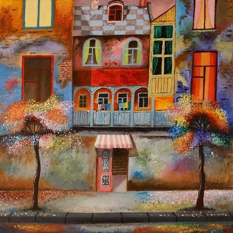 A study of a Painting by David Martiashvili