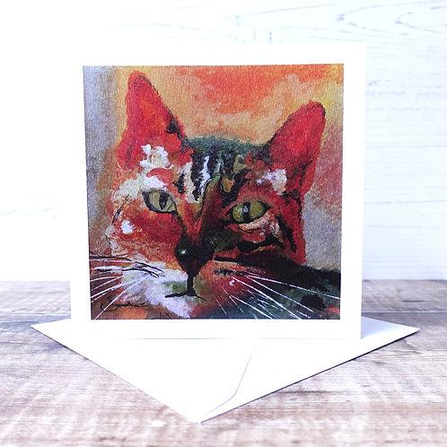 Single Greetings Card - George