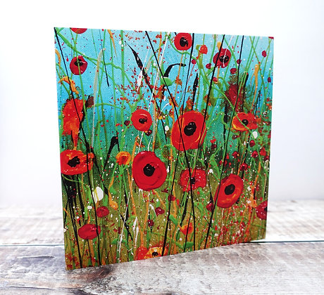 Single Greetings Card - from Poppy Meadow