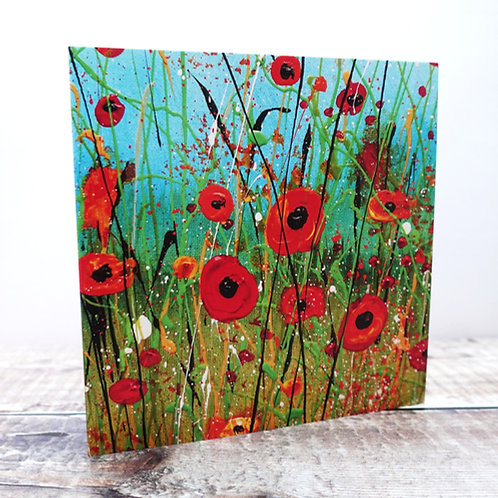 Single Greeting Card - from Poppy Meadow