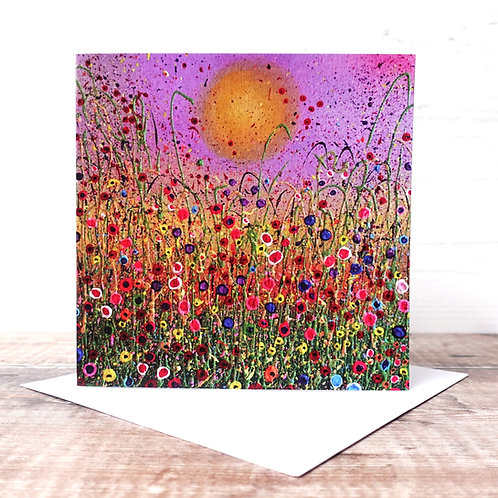 Single Greeting Card - Autumnal Meadow