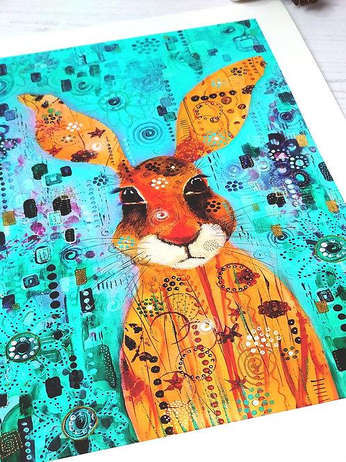 Mad March Hare Fine Art Giclée Print (Unframed)