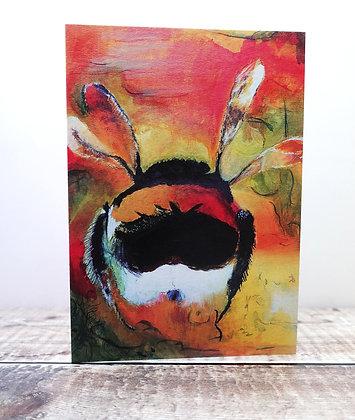 Single Greetings Card - Flight of the Bumblebee