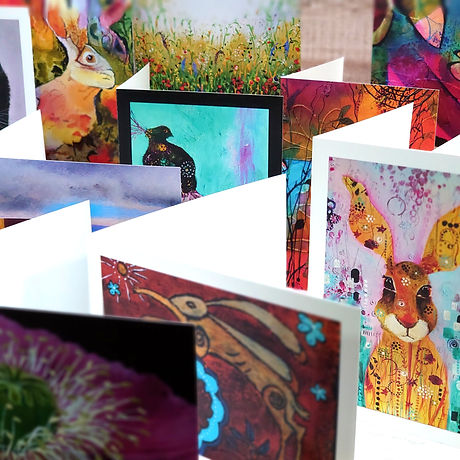 Greetings cards from original artworks by Jo Lewis