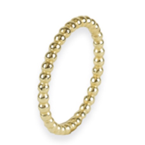 Minimalistische 14 k geelgouden ring dots