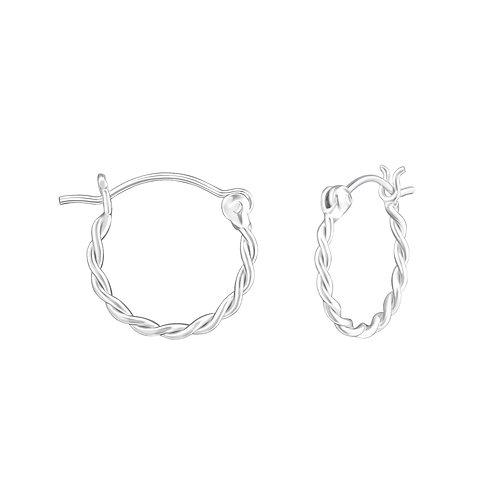 Zilveren creolen hoops