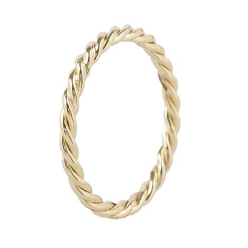 Minimalistische 14 k geelgouden ring wired