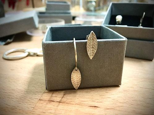 Asymmetrische oorbellen in fijn zilver 999