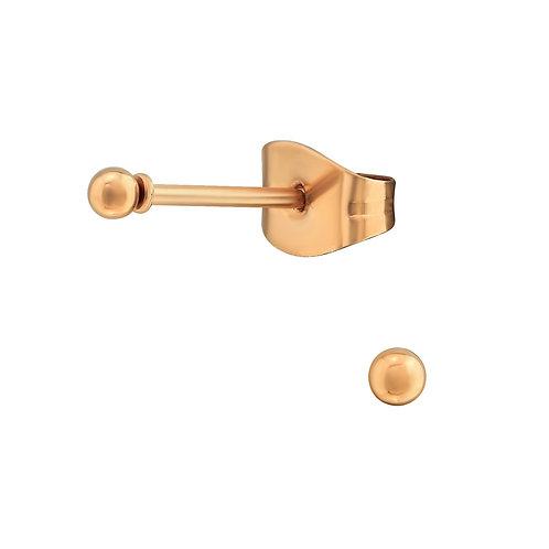 Minimalistische oorstekers rosé - rvs