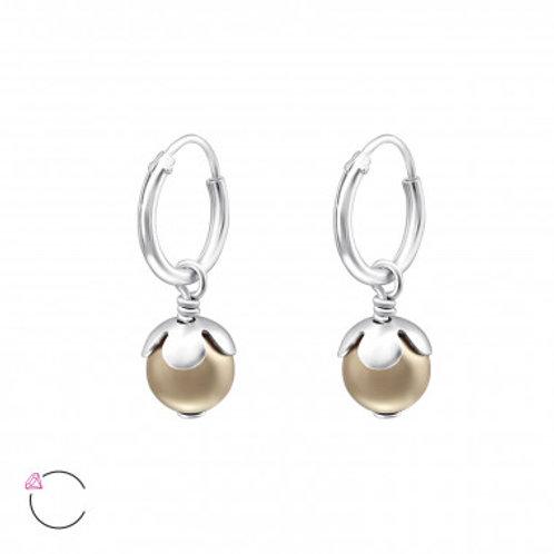 Elegante zilveren oorhanger met crystal from Swarovski®