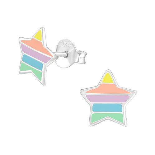 Sterling zilveren oorstekers sterren