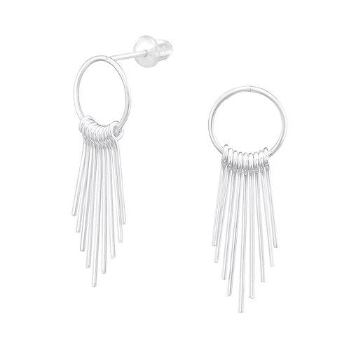 Elegante zilveren oorhangers