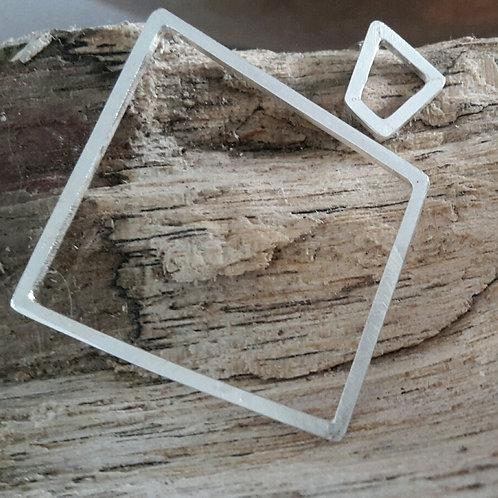 Geometrische oorstekers in sterling zilver (925)
